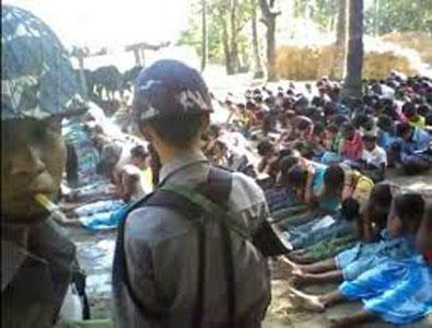 salah satu foto yang beredar terkait aksi kekejaman pemerintah myanmar terhadap etnis rohingya