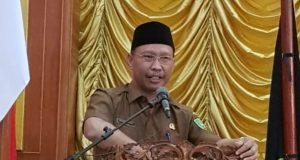 Kepala Bapenda Kota Dumai, Marjoko Santoso saat memaparkan arah Kebijakan Pendapatan Daerah pada Musrenbang RKPD Kota Dumai Tahun 2019