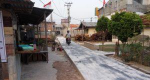 Pembangunan Jalan di Gg Lestari Jalan Nelayan Darat RT 11 Kelurahan Pangkalan Sesai Kecamatan Dumai Barat Kota Dumai